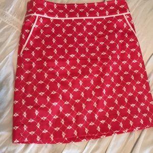 Talbert bee print skirt size 4 with pockets
